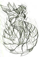 MMPR: Dragonzord - Concept by kyomusha