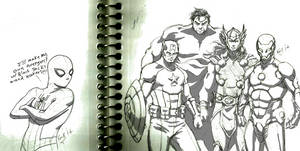 Spidey and the Avengers!!!