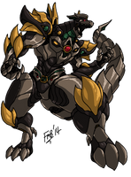 MMPR: Dragonzord by kyomusha