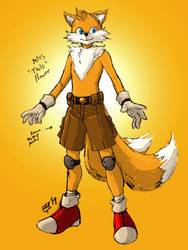 Tails The Fox (Miles Prower) by kyomusha