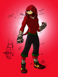 Knuckles The Echidna by kyomusha