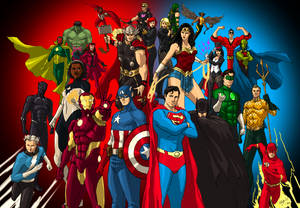 DC/MARVEL: Justice League and The Avengers