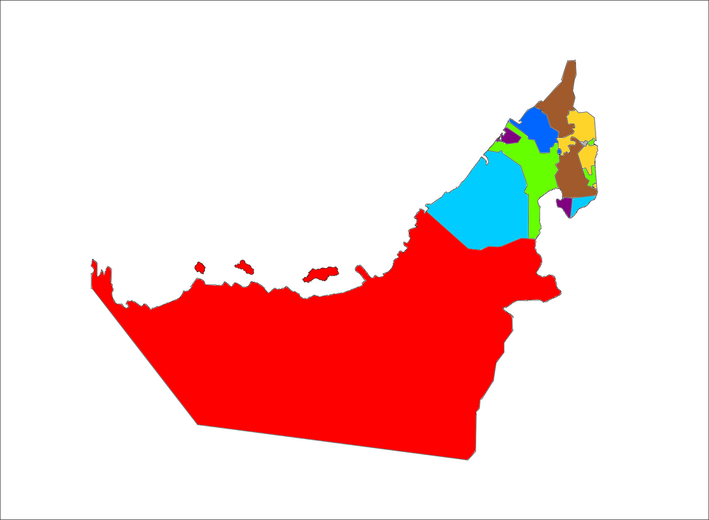 Colour Coded Map Of The Emirates Of The UAE By Ildzayri On DeviantArt - Uae map