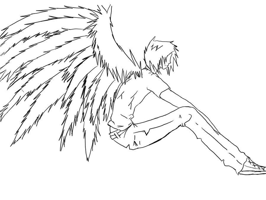 Demon Boy line art by Werewolf09 on DeviantArt