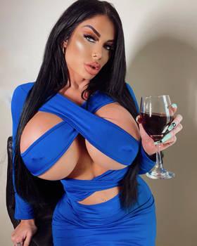 ! Lindi -  Bleu Dress Red Wine =a