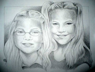 Two Little Ladies by SarawenArt
