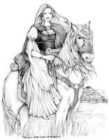 Lady of Rohan by SarawenArt