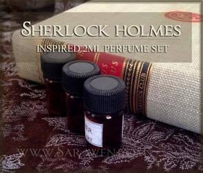 SHERLOCK HOLMES inspired Vegan Perfume Oils by SarawenArt