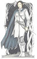 Silver Elf by SarawenArt