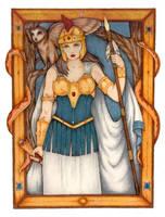 Athena Greek Goddess by SarawenArt