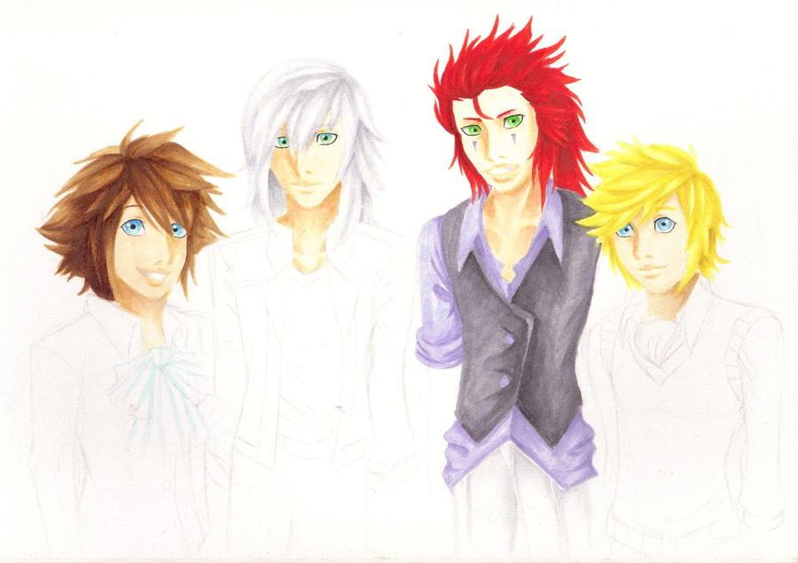Boys Before Paopus WIP3 by Akusreu