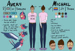 Michael and Avery Ref Sheet (DBD) by dawgs9