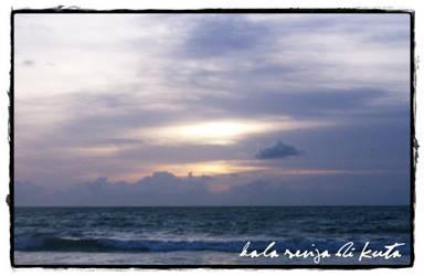 Nightfall in Kuta Beach - Bali by rahmot