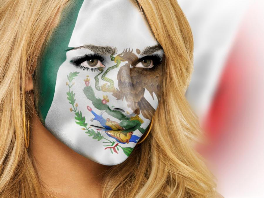Bandera de Mexico sobre cara by acg3fly