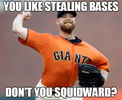 Squidward Likes Stealing Bases