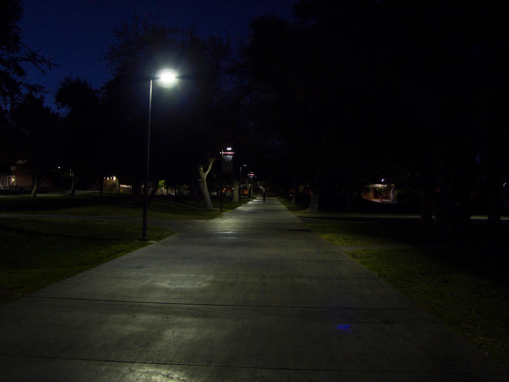 UNLV Walkway at Night by INF3CT3D-D3M0N