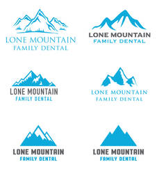 Lone Mountain Family Dental Logo Ideas by INF3CT3D-D3M0N