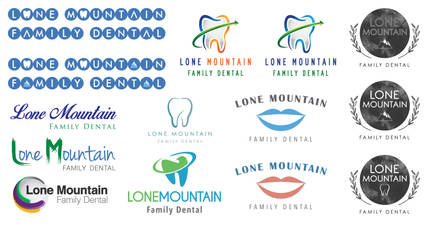 Lone Mountain Family Dental Logo Ideas 3