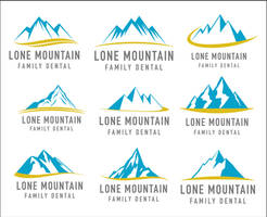 Lone Mountain Family Dental Logo Ideas 2