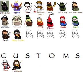 Scarfblob Video Game Adopts (MORE COMING!) by xxBrandy