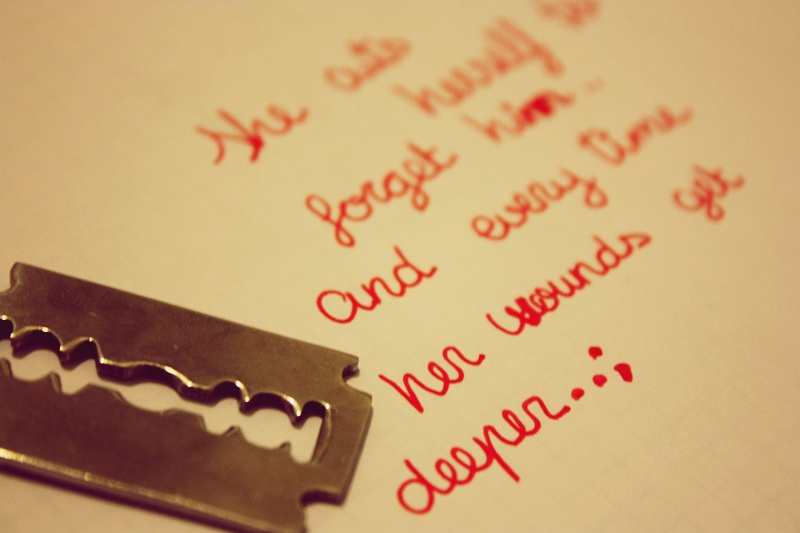 Anime Girl Cutting Herself Cutting Herself Quotes...