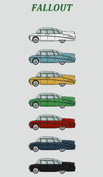 Station Wagon (Color Variations) by Pan-Chemlon