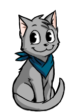 Schrodinger the Cat Icon by Vishnya-Azraq