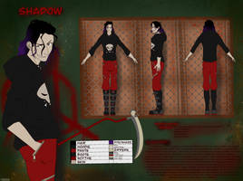 Character Sheet Commission: ProjectDawns Shadow by Canuckuma