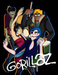 .:Gorillaz:.((Speedpaint to be added)) by Geeky-Bunny