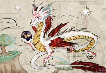 Okami-inspired Asian Dragon by Seferia