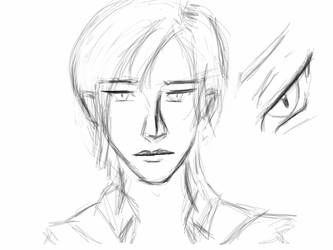 Face study - human Seferia by Seferia