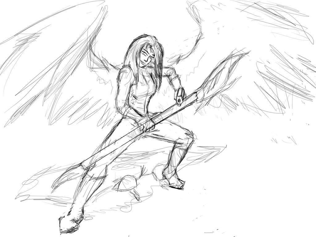 Sketch in progress by Seferia