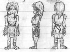 Character model sketches by Seferia