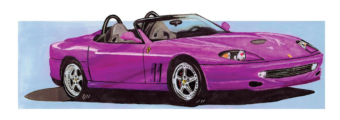 ferrari car purple. purple ferrari by rebzie car h