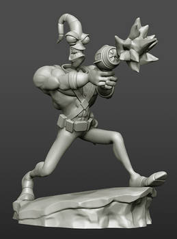 Earthworm Jim: 3D sculpt
