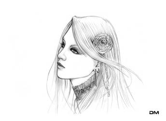 Gothic Girl (sketch) by dmideas