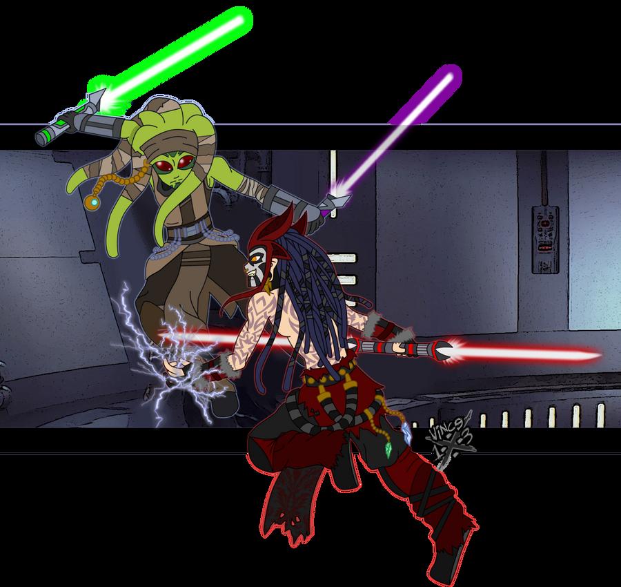 Jedi vs Sith by DaGreatVincE