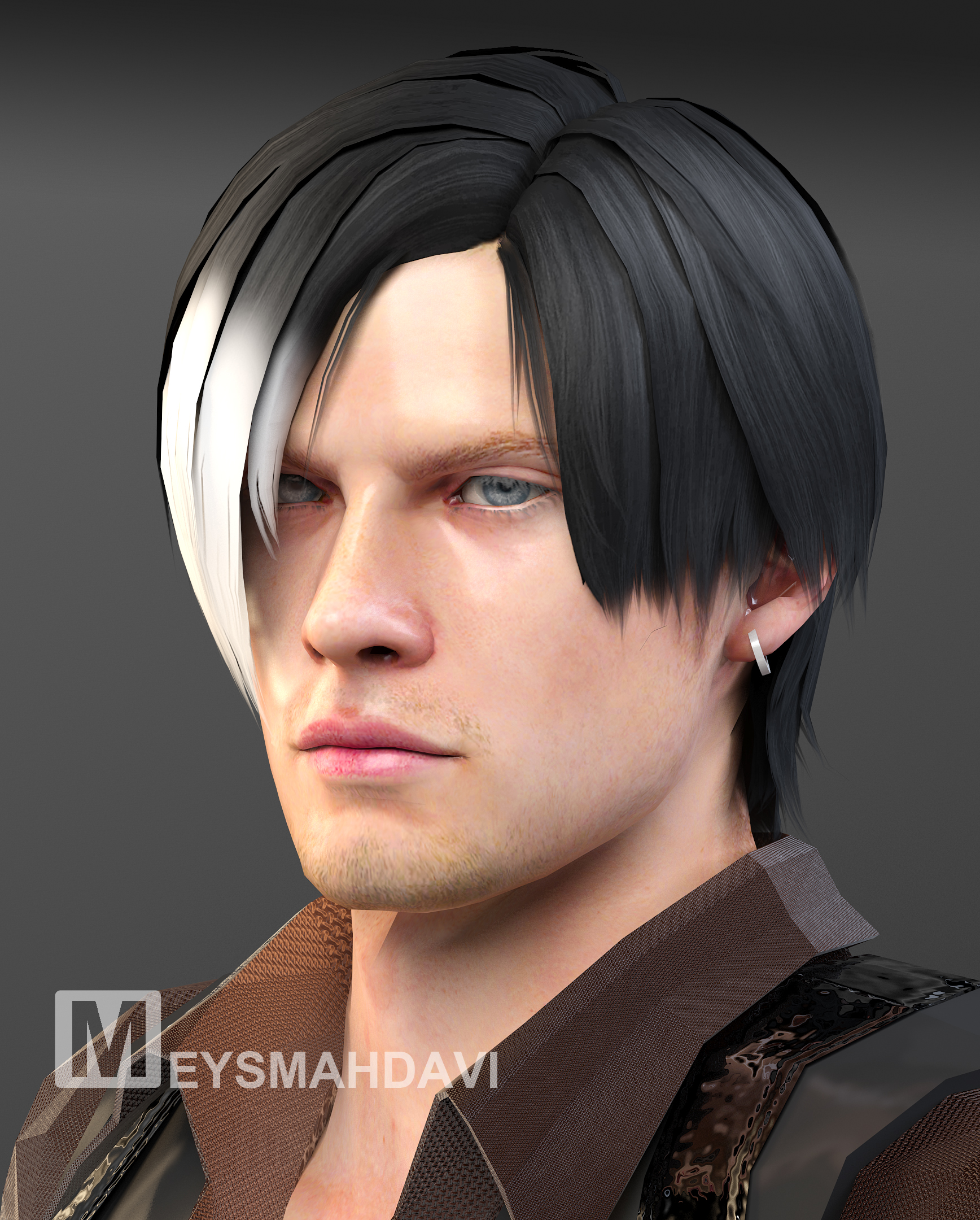 Leon Kennedy Face By Meysmahdavi On Deviantart