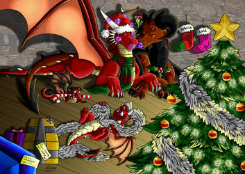Thorn's family Xmas by Neifaren. by Thornacious