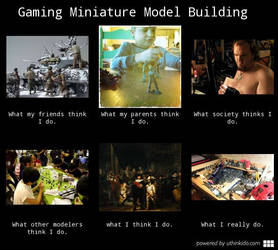 What I Do Meme - Gaming Miniatures Version
