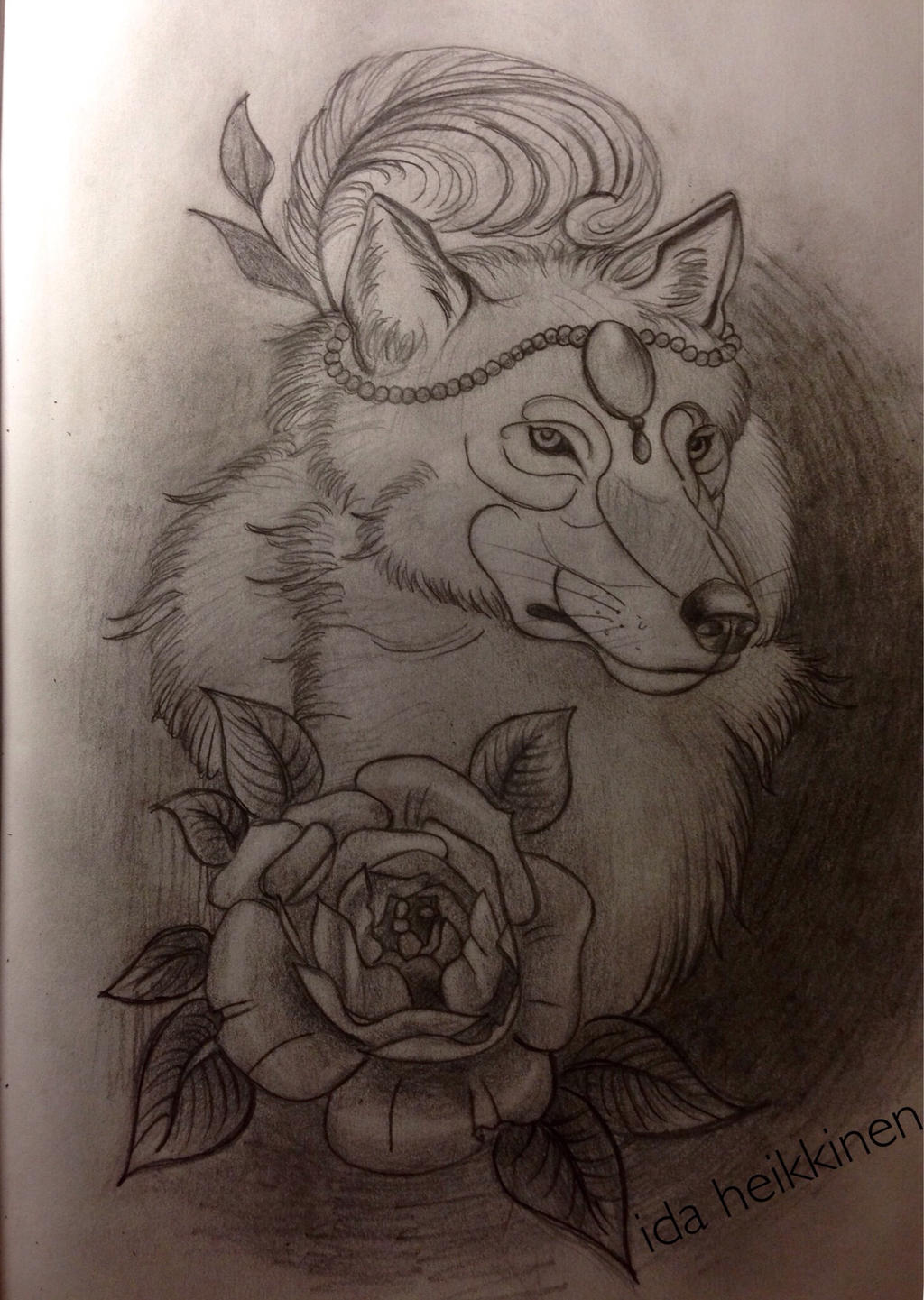 Wolf Tattoo Sketch Wolf Tattoo Sketch by