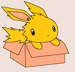 Chedder the jolteon 5 points by Espeon-Forever