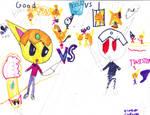 Good VS Evil by Espeon-Forever