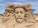 Einstein Sand Sculpture