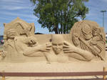 Comic Characters Sand Sculpture