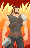 Hero Pose by kingandy
