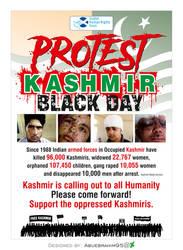 Protest Kashmir Black day Protest by abuebrahim95