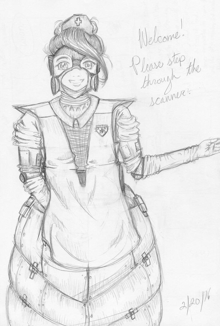 nuclear nurse by ElDragonRosado