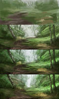 Steps of landscape studies 091 by Noukah