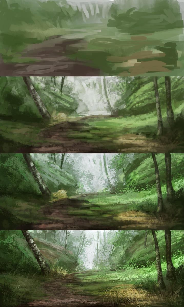 Steps of landscape studies 091 by noukah on deviantart steps of landscape studies 091 by noukah baditri Images